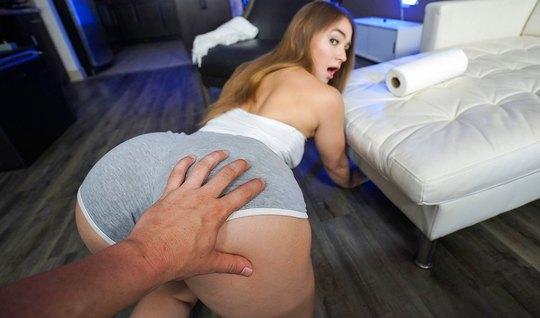 Молодая падчерица раком и лежа на спине готова для секса от первого лица